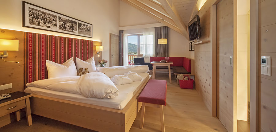 Hotel Neuhaus, Mayrhofen, Austria - Bedroom interior.jpg
